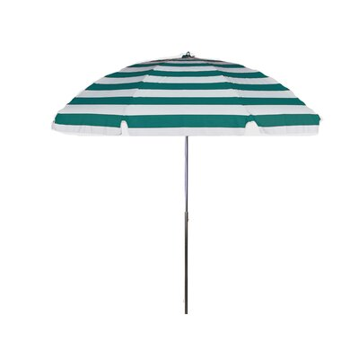 7.5 Drape Umbrella Fabric: Teal and White Stripe