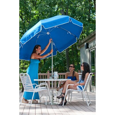 7.5 Drape Umbrella Fabric: Pacific Blue