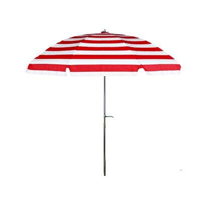 7.5 Drape Umbrella Fabric: Red and White Stripe