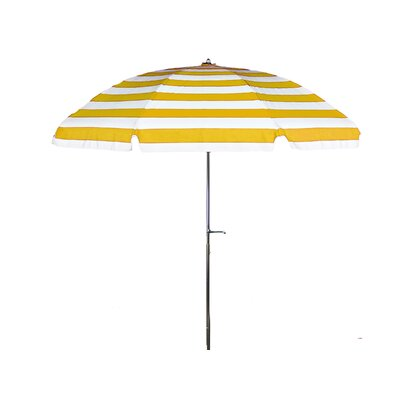 7.5 Drape Umbrella Fabric: Yellow and White Stripe