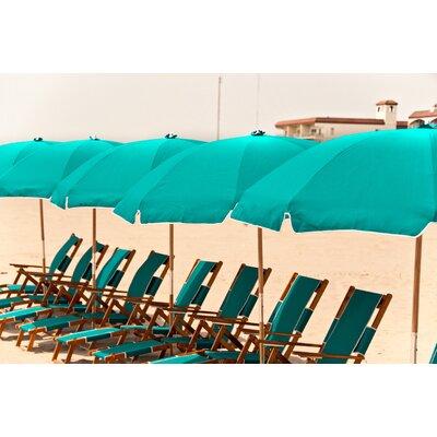 7.5 Beach Umbrella Fabric: Turquoise
