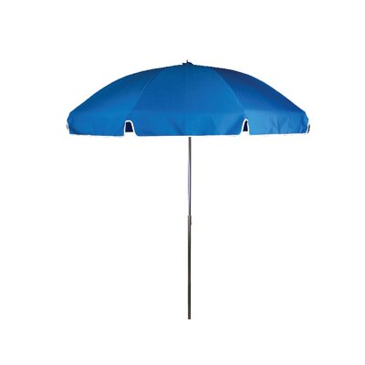 7.5 Beach Umbrella Tilt: Without Tilt, Fabric: Logo Red  Marine Grade Acrylic