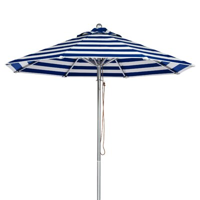9 Market Umbrella Fabric: Blue and White Stripe