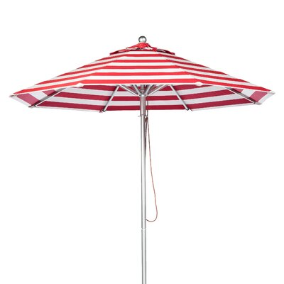 11 Market Umbrella Fabric: Red and White Stripe