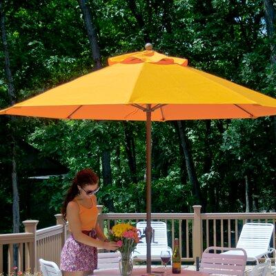 7.5 ft. Octagonal Commercial Grade Wooden Market Umbrella Fabric: Orange