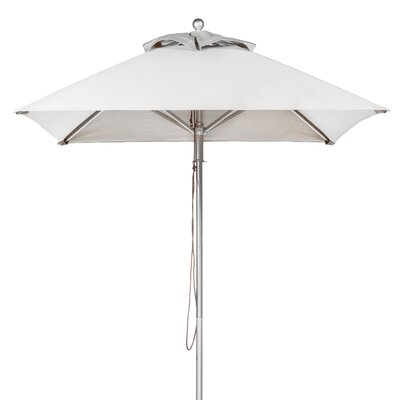 6.5' Square Market Umbrella Fabric: White