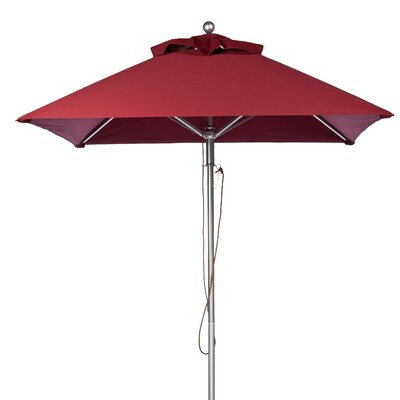 6.5 Square Market Umbrella Fabric: Burgundy