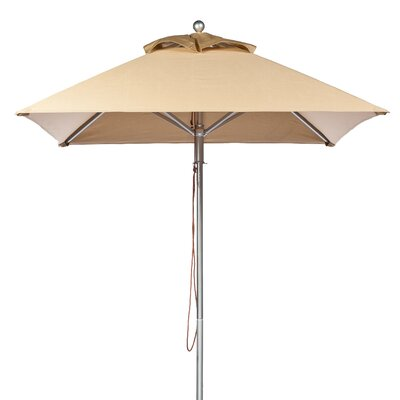 6.5' Square Market Umbrella Fabric: Toast