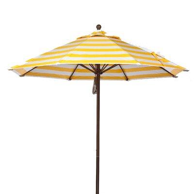 7.5 Market Umbrella Fabric: Yellow and White Stripe, Pole Type: Bronze Coated Aluminum Pole