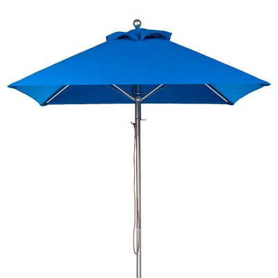 6.5 Square Market Umbrella Fabric: Pacific Blue