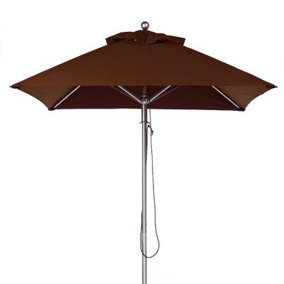 6.5 Square Market Umbrella Fabric: Brown