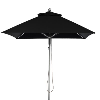 6.5 ft. Square Aluminum Commercial Grade Market Umbrella - Pulley Lift 454CAM-BKA
