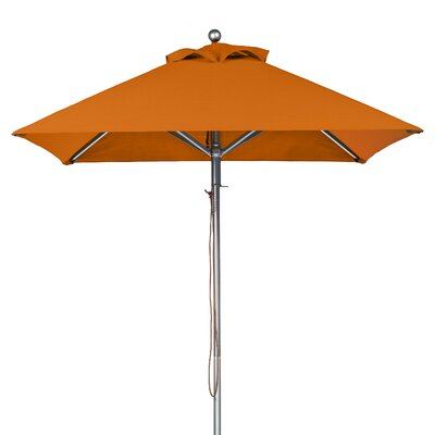 6.5 Square Market Umbrella Fabric: Orange