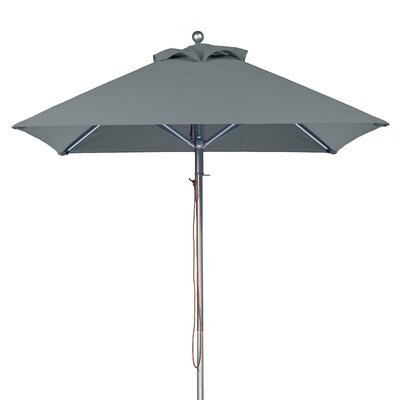 6.5 Square Market Umbrella Fabric: Cadet Gray