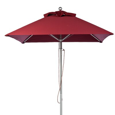 7.5 Square Market Umbrella Fabric: Burgundy