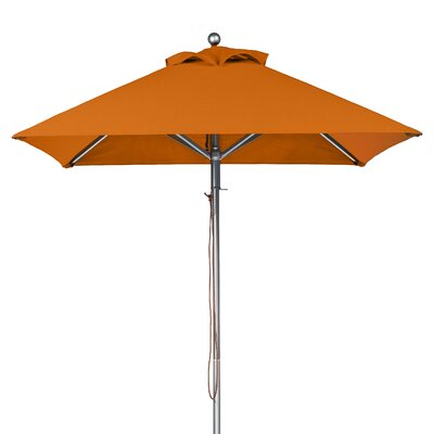 7.5 Square Market Umbrella Fabric: Orange