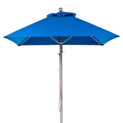 7.5 Square Market Umbrella Fabric: Pacific Blue