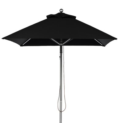 7.5 Square Market Umbrella Fabric: Black