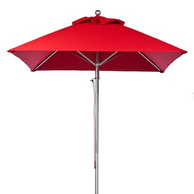 7.5 Square Market Umbrella Fabric: Logo Red