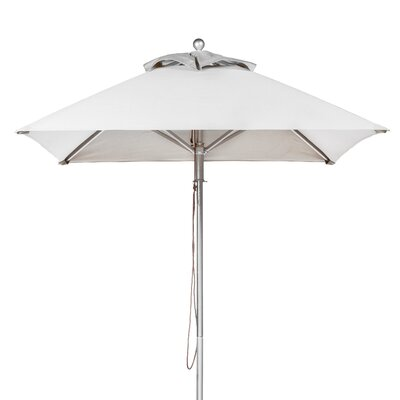 7.5 Square Market Umbrella Fabric: White