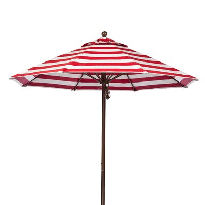 7.5 Market Umbrella Fabric: Red and White Stripe, Pole Type: Bronze Coated Aluminum Pole