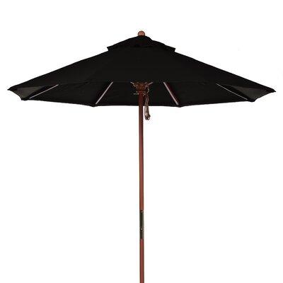 7.5 Market Umbrella Fabric: Black