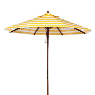 7.5 Market Umbrella Fabric: Yellow and White Stripe