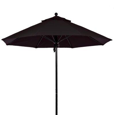 FRANKFORD UMBRELLAS 9' Fiberglass Market Umbrella - Fabric: Orange, Pole Type: Black Coated Aluminum Pole