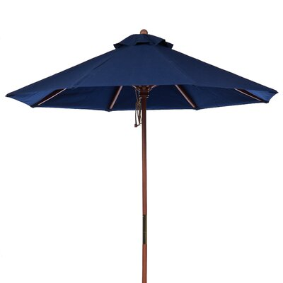 9 Market Umbrella Fabric: Navy Blue