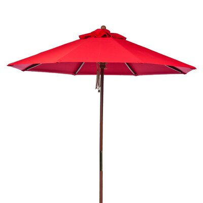 9 Market Umbrella Fabric: Logo Red