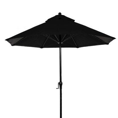 FRANKFORD UMBRELLAS 9' Fiberglass Crank-up Market Umbrella - Fabric: Forest Green, Pole Type: Bronze Coated Aluminum Pole at Sears.com