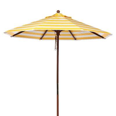 9 Market Umbrella Fabric: Yellow and White Stripe