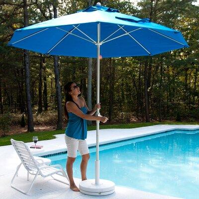 FRANKFORD UMBRELLAS 7.5' Square Fiberglass Market Umbrella - Fabric: White, Pole Type: White Coated Aluminum Pole