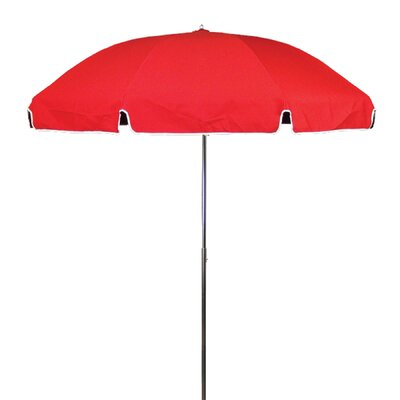 7.5 Drape Umbrella Fabric: Logo Red