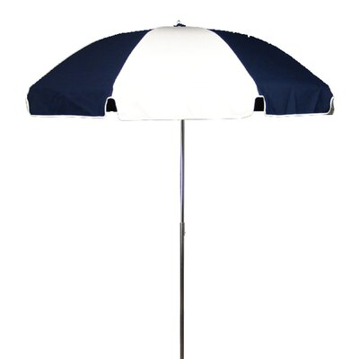 7.5 Drape Umbrella Fabric: Navy Blue and White