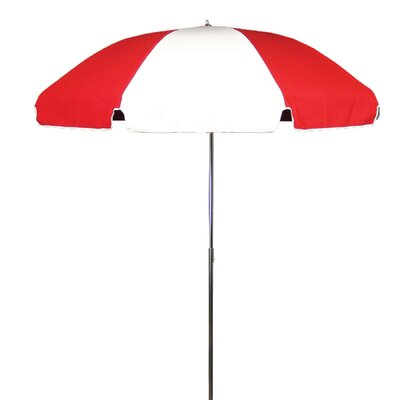 7.5 Drape Umbrella Fabric: Logo Red and White