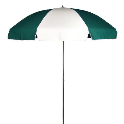7.5 Drape Umbrella Fabric: Forest and White