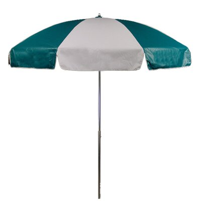 7.5 Drape Umbrella Fabric: Teal and White