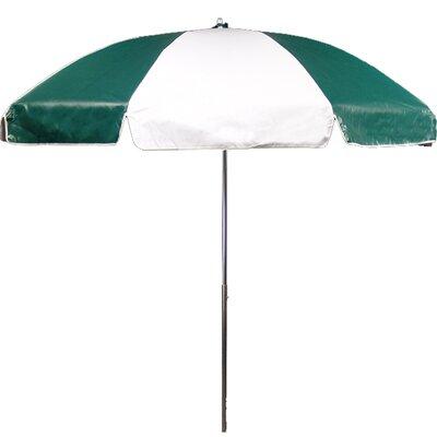 7.5 Drape Umbrella Fabric: Forest and White