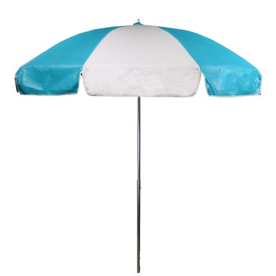 7.5 Drape Umbrella Fabric: Turquoise and White