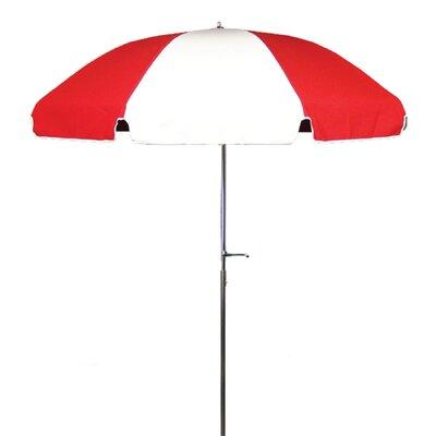 7.5 Drape Umbrella Fabric: Logo Red and White