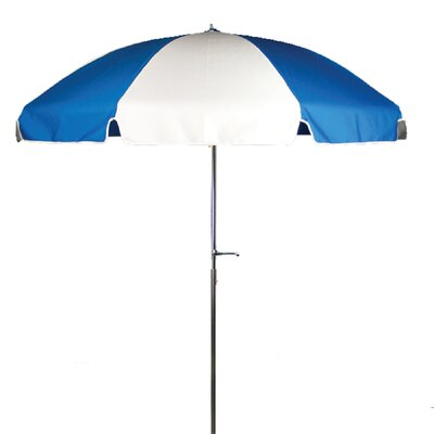 7.5 Drape Umbrella Fabric: Pacific and White