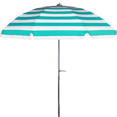 7.5 Drape Umbrella Fabric: Turquoise and White Stripe