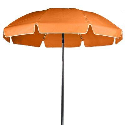 7.5 ft. Diameter Fiberglass Commercial Grade Beach Umbrella Color: Orange, Vent: Yes
