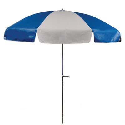 7.5 Drape Umbrella Fabric: Royal and White