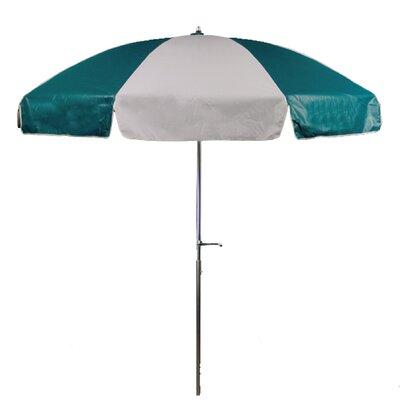 7.5 Drape Umbrella Fabric: Teal and White