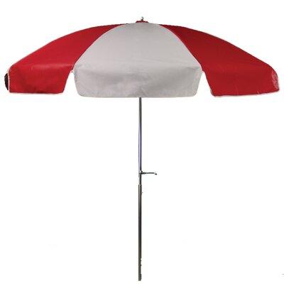 7.5 Drape Umbrella Fabric: Red and White