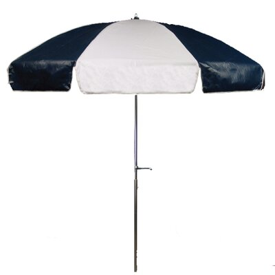 7.5 Drape Umbrella Fabric: Navy Blue and White
