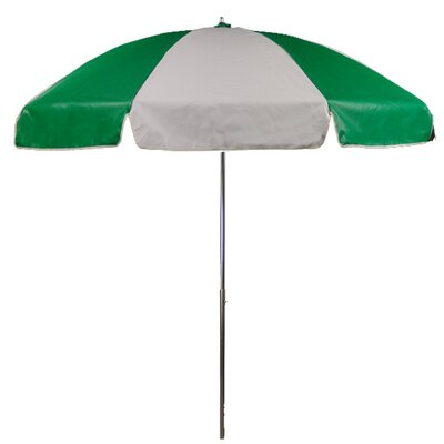7.5 Drape Umbrella Fabric: Kelly Green and White