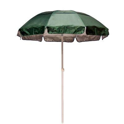 6 Lifeguard Beach Umbrella Fabric: Forest Green / Silver